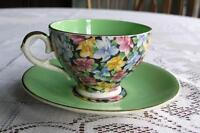 Chintz Cup and Saucer-Leighton Ware England