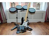 Xbox 360 Rock Band Full Instruments PLUS GAME