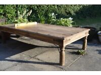 chic solid oak coffee table