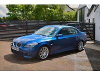 2007 BMW E60 530D M SPORT AUTO LE MAN BLUE TOP SPEC WARRANTY + LOW FINANCE £60 PW NOT 330D 320D 535D