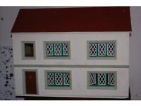 Handmade Dolls house with lots of furniture