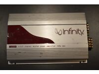 CAR AMPLIFIER INFINITY RA5004 4 CHANNEL STEREO AMP TO RUN THE SUBWOOFER OR DOOR SPEAKERS AMP