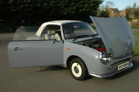 Nissan Figaro Automatic 1991 One Years MOT Lapis Grey Convertible £5990 ono