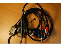 XBOX PS3 PS2 COMPOSITE AUDIO VIDEO CABLE