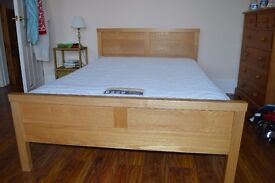 Wooden framed double bed and mattress for sale in Twickenham. Great Condition