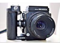 Zenza Bronica ETRS inc 75mm lense - mint condition