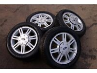 Ford Alloys 14 inch 4 stud fit all Fords with tyres VGC plus spare wheel & brand new tyre