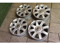 "4x Genuine VW Golf MK5 16"" Alloy wheels 5x112 Passat T4 Audi A3 A4 Touran Caddy"