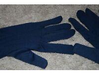 New set gloves scarf ellegant