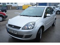Ford Fiesta silver 2007 1.4 in Excellent condition MOT April 2017 LOW MILEAGE 50000 miles