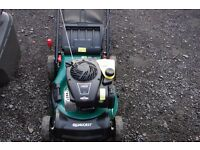qualcast 18 inch cut 4.5hp briggs and stratton engine self propelled lawn mower