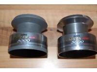 2 Diawa opus plus 5000 spare spools new never used as photo's one chrome the other mat finished