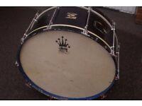 "Vintage bass drum for drum set. - 27 1/2"" x 11"""