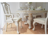 !!! SALE !!! *** UNIQUE & BEAUTIFUL *** Shabby Chic Provence Dining Table and Six Chairs !!!
