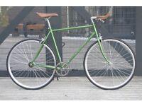 Hackney Club single speed fixed gear fixie road bike/ bicycles + 1year warranty & free service qqr