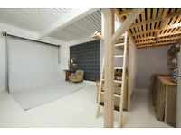 PHOTOGRAPHY STUDIO TO HIRE £70 HALF DAY/£100DAY. STOKE NEWINGTON LONDON