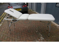 Portable Treatment Couch - white (easy clean), in very good condition with white washable cover