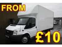 CHEAPEST SHORT NOTICE BIG LUTON MAN AND VAN REMOVALS FURNITURE COLLECTION DELIVERY BED SOFA COURIER