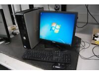 Optiplex 360 PC with Pentium Dual core E5200 @ 2.5Ghz 250GB 4GB memory keyboard mouse inch monitor