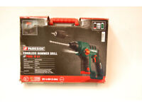 PBHA 12 A1 Parkside 12V Cordless Hammer Drill Inc SDS & Keyless Chuck Battery/Charger