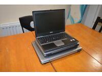 Joblot of 3 x laptop laptops Dell toshiba (spares/repair)