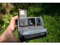 Polaroid Impulse Portrait 600 series instant film camera, 80s, 90s, vintage