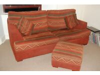 3 seater sofa - 2 seater sofa - footstool - 4 scatter cushions