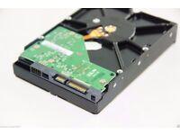 JOB LOT X5 250GB sata HARD DRIVES 3.5 inch mixed brands ALL DATA WIPED