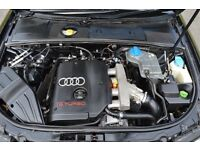 LOW MILEAGE AUDI A4 1.8T 190 BEX ENGINE FOR SALE- LOW MILEAGE- STILL IN CAR AND DRIVING