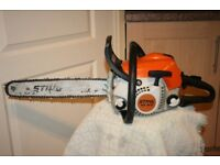 Stihl MS181c petrol chainsaw with easy chain adjust in excellent condition