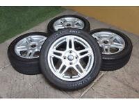 "Genuine FORD Fiesta 15"" Alloy wheels & Tyres 4x108 MK6 MK7 MK8 MK9 Titanium Zetec Alloys"