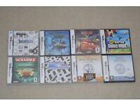 Eight DS Nintendo games
