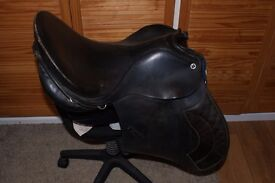 Black Bansby Leather Saddle - Narrow
