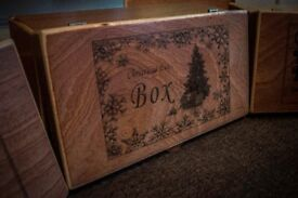 Wooden Christmas Eve Boxes Hand Made