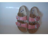 41 Birkenstock-Papillio-Stripe-Size-7-5-41. WORN TWICE. RRP £85.99