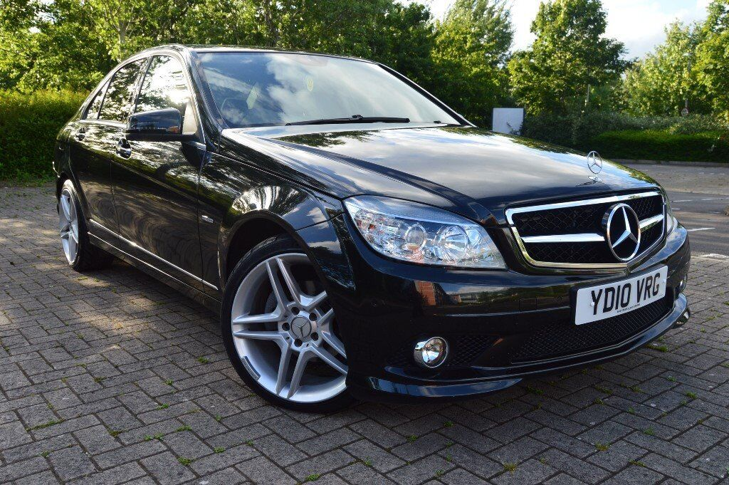 Mercedes benz c class 2010 cdi 2 2 black amg 37654 miles 1 for Mercedes benz swansea