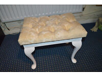 Fabric Button Top DressingTable Bedroom Stool