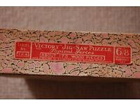 two vintage wooden ' victory ' jig-saw puzzles