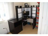 Ikea Micke Corner Desk with a side unit