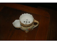 Vintage china shaving mug with flowers
