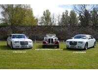 chauffeur driven bridal cars and 8 passenger wedding mini bus hire