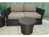 Rattan sofas and side chair