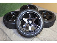"""17"""" Grid Alloy wheels & Winter Tyres 5x108 Alloys Ford Mondeo Focus Transit connect Rota?"""