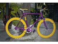 Brand New NOLOGO Aluminium single speed fixed gear fixie road bike/ bicycles rrm