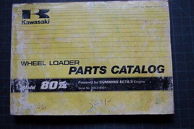 Kawasaki 80z Wheel Loader Parts Manual Book Catalog Spare List Index Shop Pay