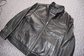 Child's M&S Autograph Boy Dark Brown Leather jacket. 6-9 years