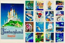 25pcs Disney 4*6 size postcard style prints