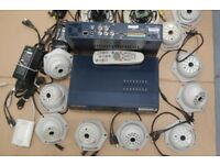 Surveillance System with 10 cameras. Used but in good condition.