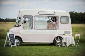 Award winning Vintage ice cream van hire weddings and events