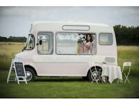 Award winning Vintage ice cream van hire weddings and events